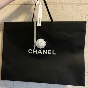 CHANEL Shopping Bag Camelia Flower & Ribbon